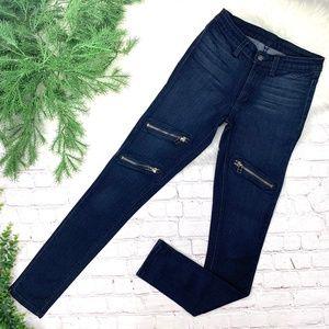 👖I•CARMAR•I Zipper Stretch Skinny Jeans 27x31 👖